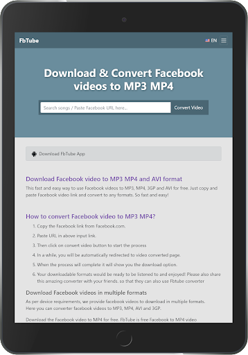 download facebook videos in mp3 format