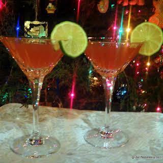 Pom-Bom-Spice-Tini Cocktails.