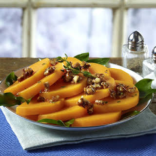 Roasted Butternut Squash with Spiced Pecans.