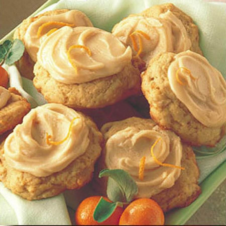 Banana Cookies With Orange Icing Recipe Just A Pinch Recipes