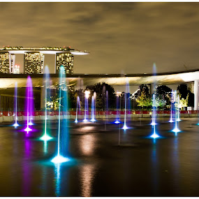 Marina Barrage by Amit Aggarwal - City,  Street & Park  Fountains ( fountain, mbs, marina, barrage, singapore,  )