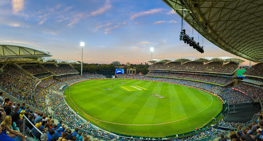 A cricket game between the Adelaide Strikers and the Sydney Six's at the Adelaide Oval, Australia.