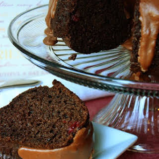 Cherry Chocolate Cake with Fudge Frosting.