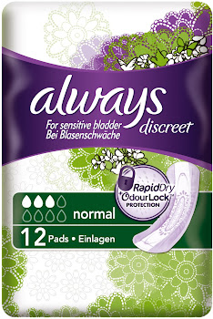 Always Discreet Sanitary Pad - Normal, 12 Pads