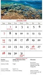 India Calendar 2018 - náhled