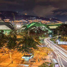 The Eternal Spring City by Andrius La Rotta Esquivel - City,  Street & Park  Street Scenes ( city streets, amazing, medellin, cityscape, city lights, photographer, photography, colombia )