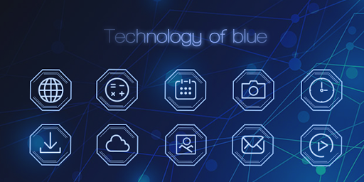 Technology of Blue-Solo Theme