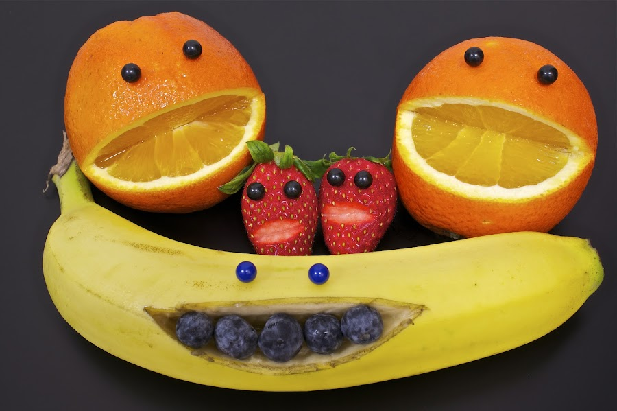 Fruitty Tutti by Sim Kim Seong - Food & Drink Fruits & Vegetables ( banana, orange, blueberry, pwcfruit, strawberry )