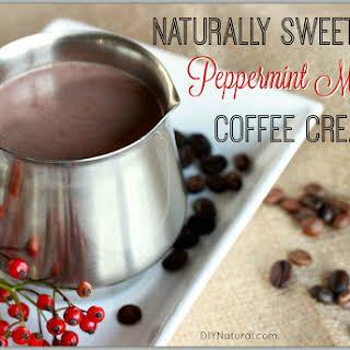Homemade Peppermint Mocha Coffee Creamer.