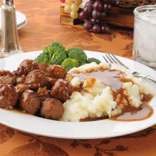 Crockpot Meatballs and Gravy.