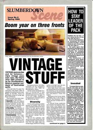 Slumberdown Scene Mag Mar 1986
