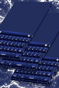 Midnight Blue Keyboard Theme - náhled