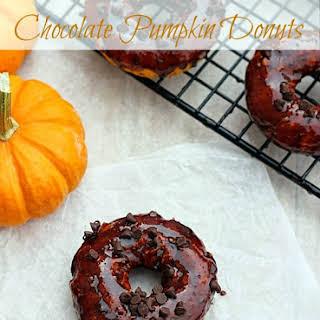 Baked Chocolate Pumpkin Donuts.