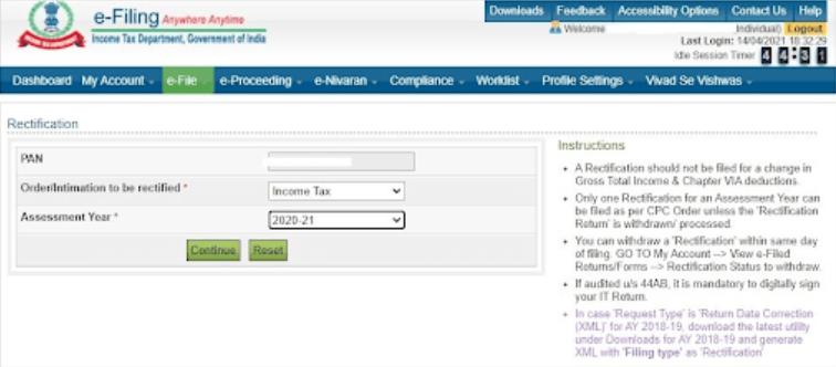income tax e-file
