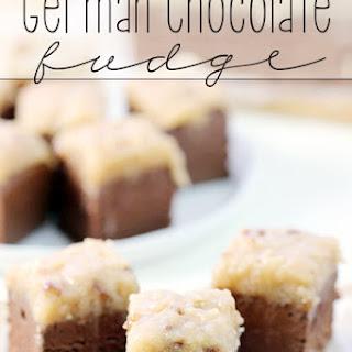German Chocolate Fudge.
