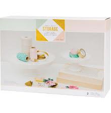 Crate Paper Desktop Storage Ceramic Stands 2/Pkg