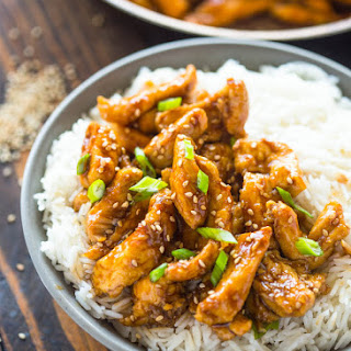 20 Minute Healthy Sesame Chicken.