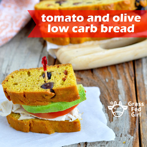 Low Carb Paleo Bread Recipe with Olives and Sun Dried Tomatoes