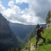 Fotos da escalada do Pilier du Printemps (Pilar de la Primavera, El Gallinero, Ordesa), 5 de xullo de 2018.