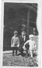 Photo: Doris, John, Dorothy Taken Mar 24 1918