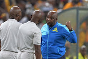 Pitso Mosimane during the Absa Premiership match between Kaizer Chiefs and Mamelodi Sundowns at FNB Stadium on April 01, 2017 in Johannesburg, South Africa.