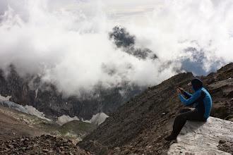 Photo: Widok z budy. Refuge des Rognes (2768m).