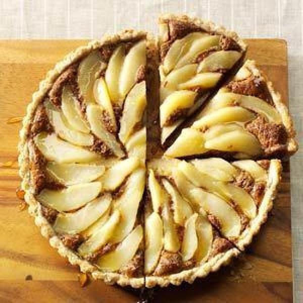 Chocolate Pear Hazelnut Tart Recipe