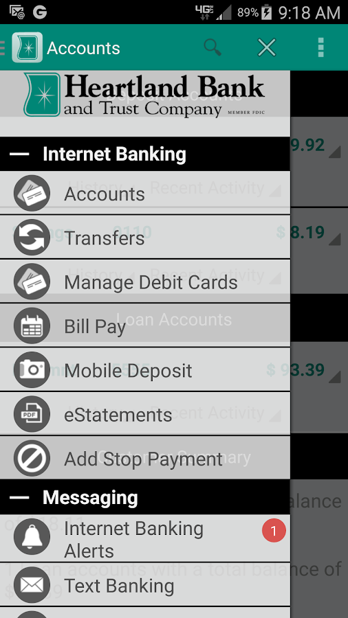 Heartland Bank Mobile- screenshot