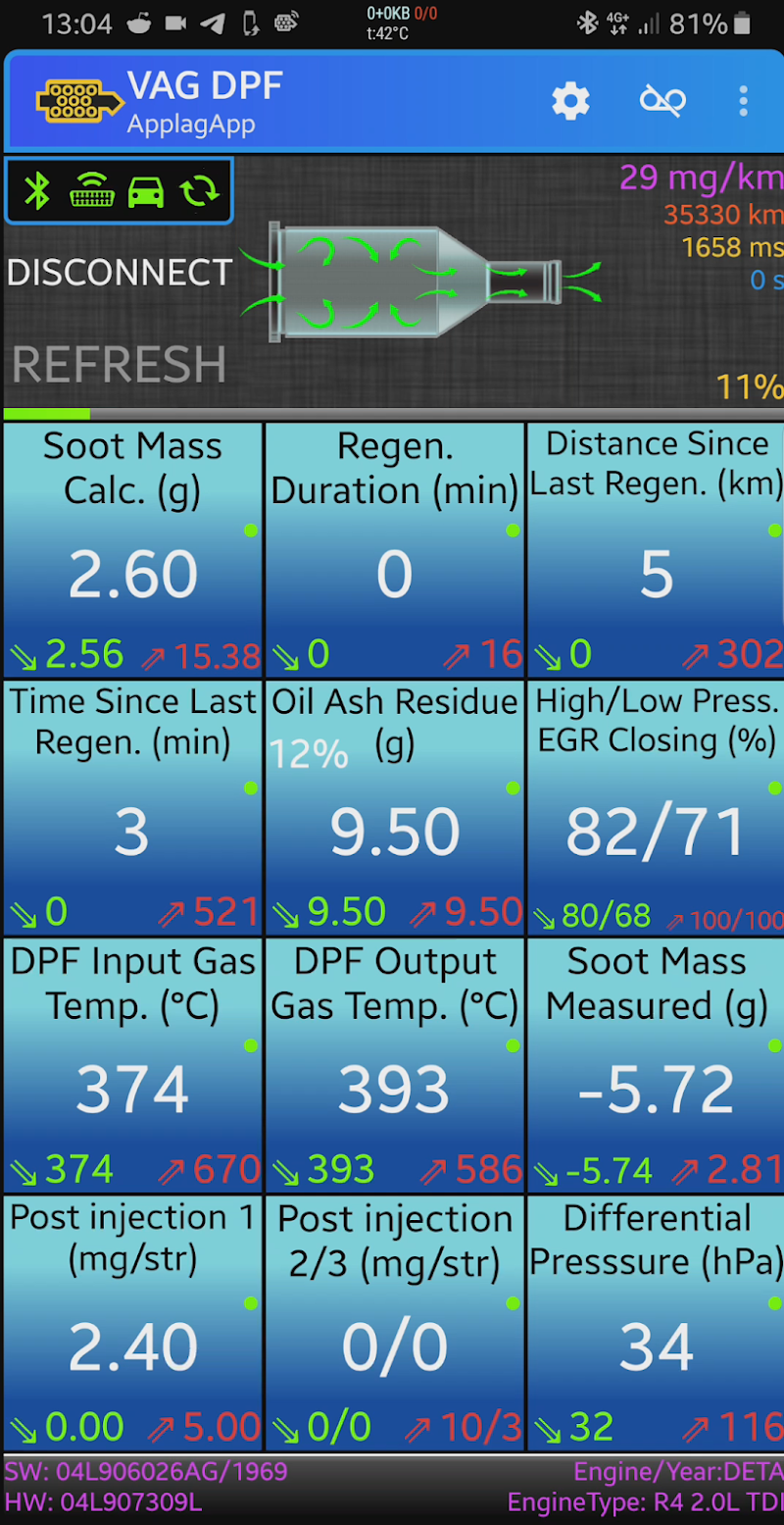 VAG DPF Screenshot 1