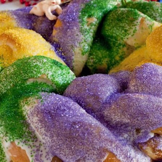 Quick Mardi Gras King Cake.