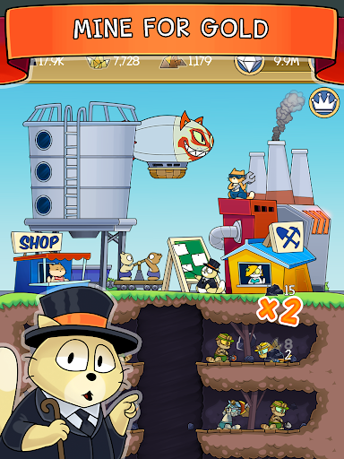 Dig it! - idle cat miner tycoon apktram screenshots 6