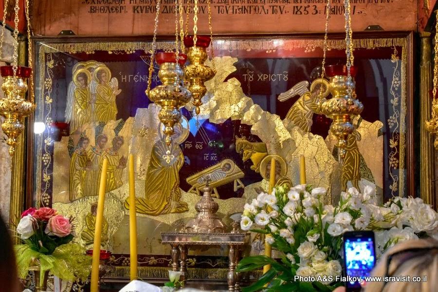 Алтарь Николая Угодника. Храм Рождества Христова. Вифлеем.
