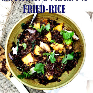 Mackerel and Pineapple Red Fried Rice Recipe