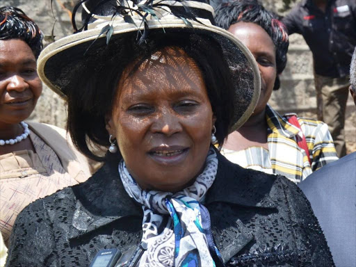 Former Othaya MP Mary Wambui.