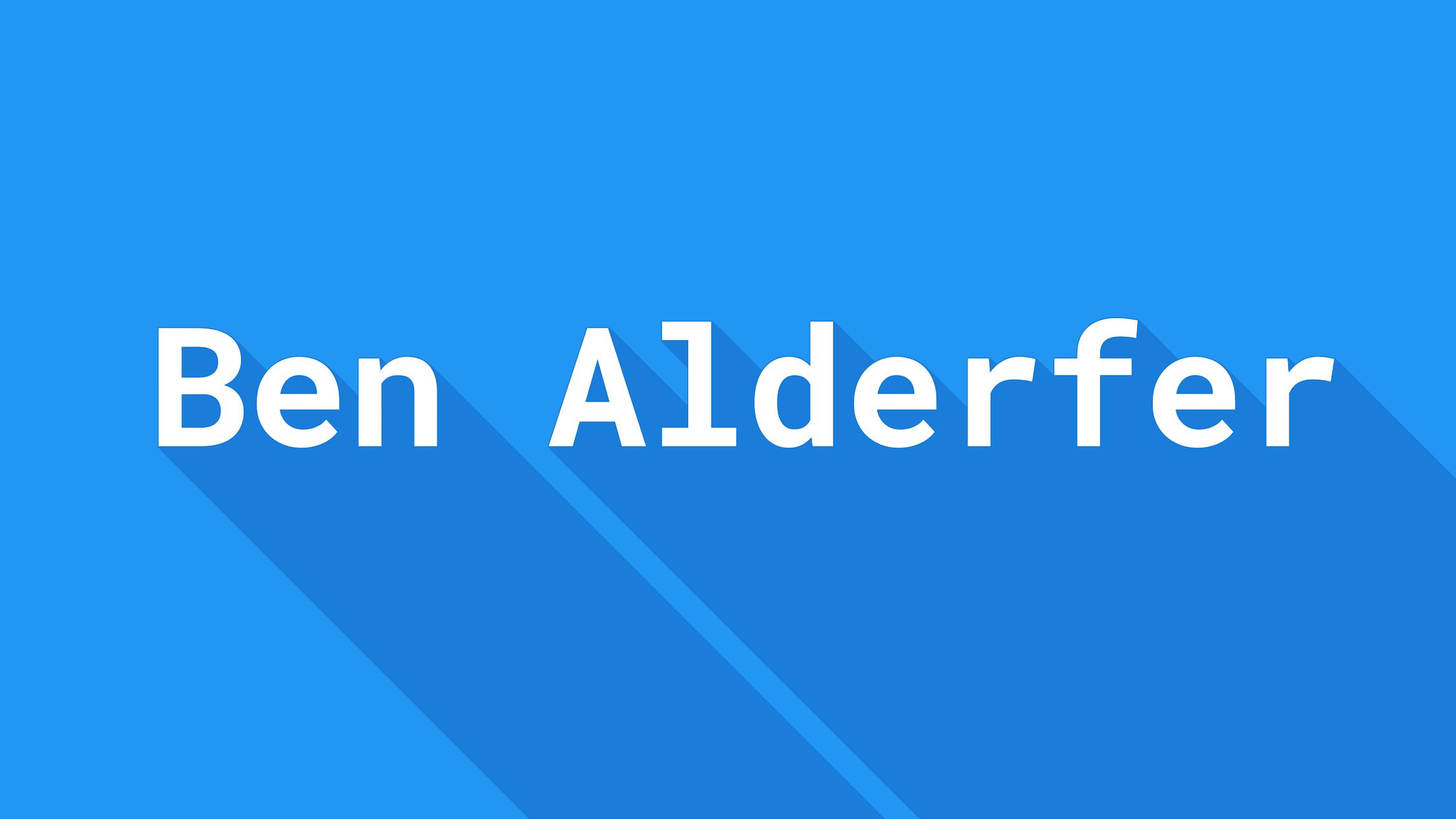Ben Alderfer