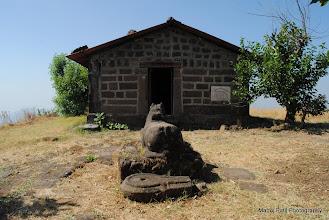 Photo: Shiv temple to top of Makrandgad....