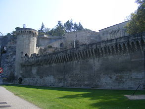 Photo: Looking up to the Rocher from ground level, and some of the formidable ramparts.
