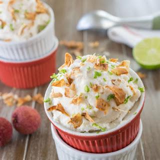 Heavenly Coconut Lychee Ice Cream.