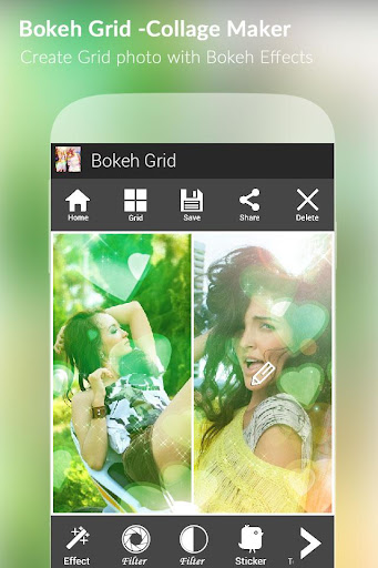Bokeh Grid - Collage Maker