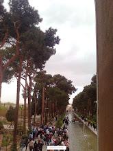 Photo: نمايي از باغ دولت آباد از طبقه فوقاني عمارت