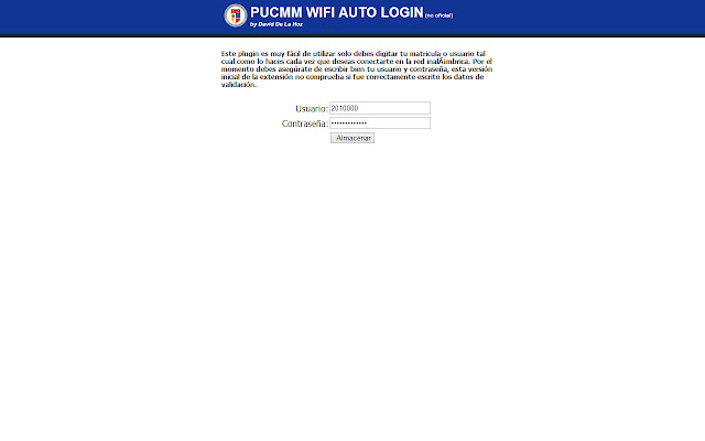 PUCMM WIFI Auto Login