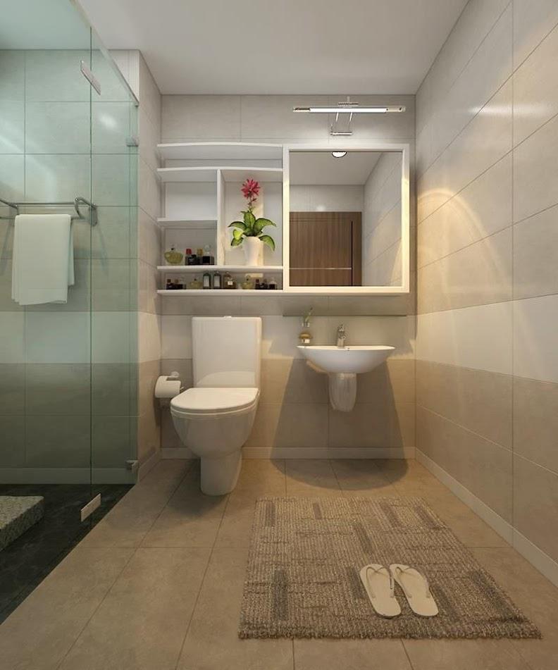 thiết kế phòng tắm chung cư