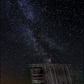 The Shack by Stéphan Savard - Landscapes Starscapes ( nightcapes, milky way )