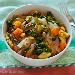 Stir Fried Vegetables With Pasta Recipes.
