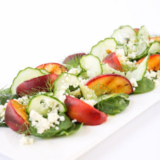 Grilled Peach, Ricotta And Fennel Salad.