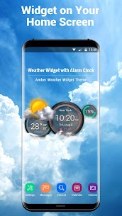 Weather Widget with Alarm Clock 1