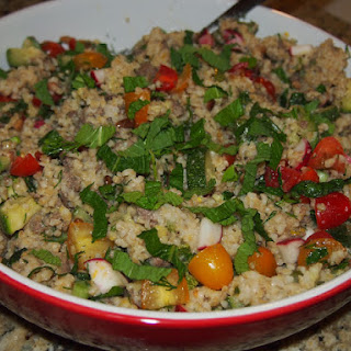 Beef and Bulgur Pilaf