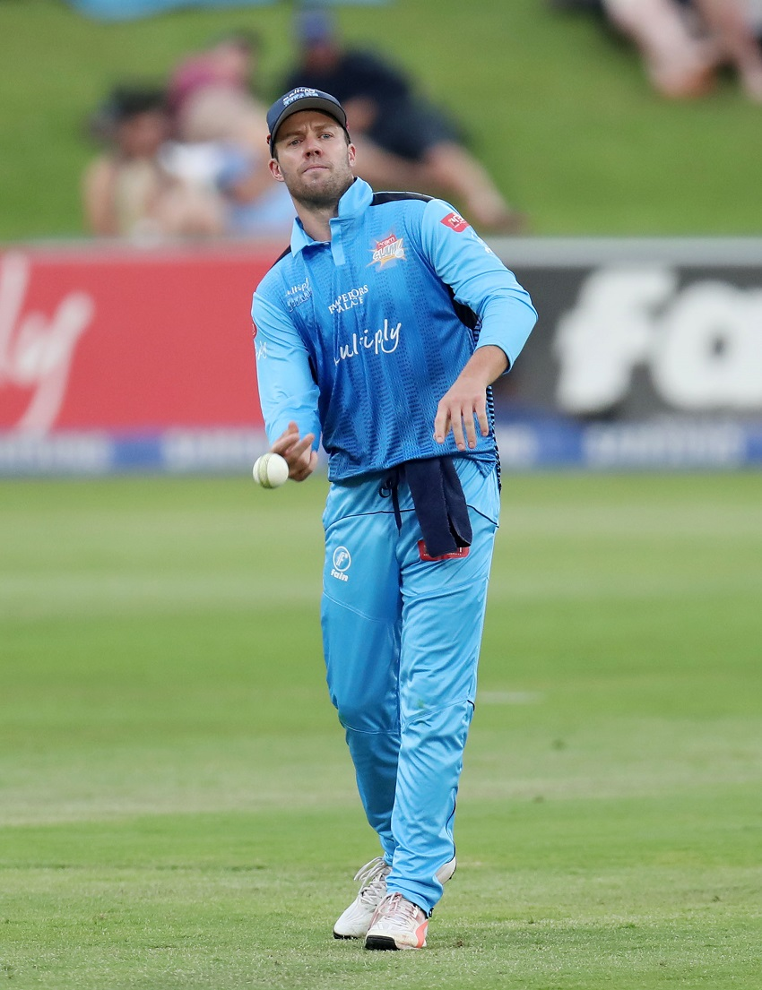 AB de Villiers of the Titans during 2017 T20 Ram Slam match between Multiply Titans and Bizhub Highveld Lions at Supersport Park, Pretoria South Africa on 12 November 2017.