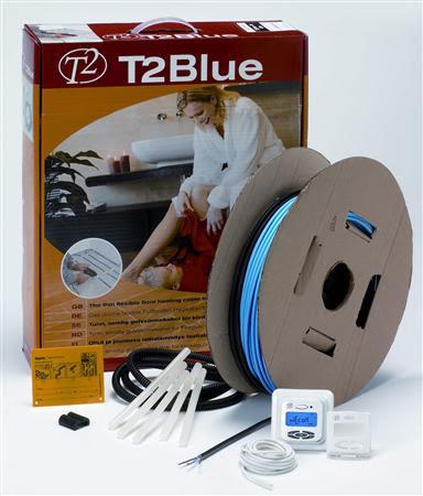 T2 Blå-10 inklusive termostat