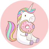 cool girly wallpapers? unicorn Kawaii images Icon